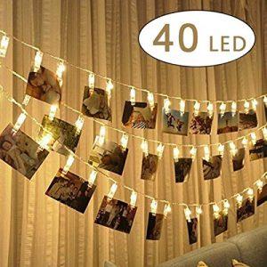 Quanto Costa cookey led foto clip stringa illuminazione 40 foto clips 5m batteria