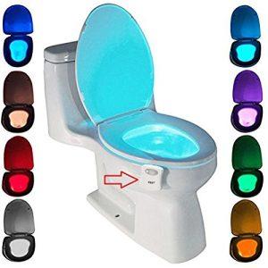 Quanto Costa lampada notturne igienici bagno wc led luce batteria con notte sensore di