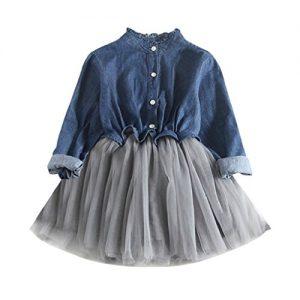 Quanto Costa bambino piccolo cowboyyanhoo abiti bambino ragazze denim vestito lungo