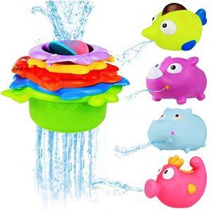 Quanto Costa bblike bagno giocattolo galleggiante con giochi rete da pesca 4 animali e