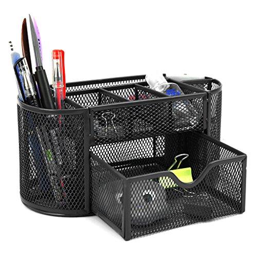 multifunzione Organizer da scrivania portapenne impermeabile per materiale da ufficio in PU 11,1 x 9,3 x 20,2 cm Bianco 1 Penaio