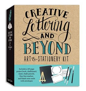 Quanto Costa creative lettering and beyond art stationery kit includes a 40 page