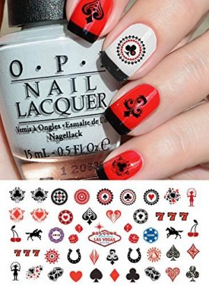 Quanto Costa las vegas casino assortment nail art waterslide decals salon quality by