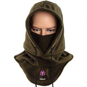 Quanto Costa passamontagna tattico maschera completa per viso in pile caldo per sport