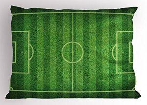Quanto Costa ragazzo stanza del cuscino sham realistico verde erba campo di calcio sport