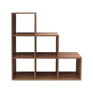 Quanto Costa rebecca mobili scaffale da terra libreria scalare 6 scompartimenti legno