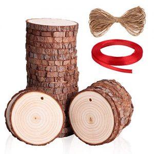 Quanto Costa soled dischetti legno grezzo con foro bricolage legno creativo con corda di