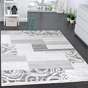 Quanto Costa tappeto di design per salotto arredamento a pelo corto motivo in grigio