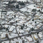 In volo con il drone sopra una Olgiate completamente bianca: le foto di Ivan - CiaoComo.it
