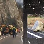 La frana sfonda le reti di contenimento, momenti di paura a Riva del Garda. Strade interrotte per disgaggi e pulizia - il Dolomiti